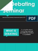 NUDC Debate Seminar 2019