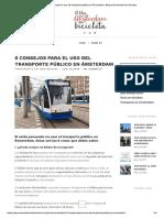 6 Consejos Para El Uso Del Transporte p..