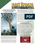 September 2008 Desert Breeze Newsletter, Tucson Cactus & Succulent Society