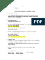 Lista de Exercc3adcios 2c2aa Avaliac3a7c3a3o