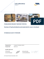 Cement and Other Hydraulically Bound Mixtures