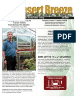 July 2008 Desert Breeze Newsletter, Tucson Cactus & Succulent Society