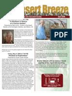 April 2008 Desert Breeze Newsletter, Tucson Cactus & Succulent Society