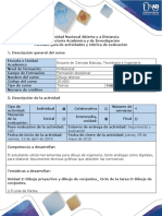 Guia de Actividades y Rubrica de Evaluacion - Ciclo de La Tarea 3 - Dibujo de Conjuntos