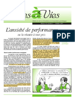 L'anxiété de performance