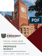 Town of Amherst proposed fiscal 2020 budget