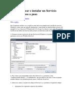 C Sharp Crear e instalar un Servicio Windows paso a.docx