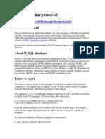 MySQL CSharp tutorial.docx