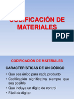 Codificación de Materiales