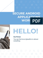Secure Android Applications - Workshop
