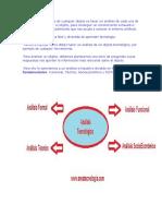 Un análisis tecnológico de cualquier objeto es hacer un análisis de cada una de las partes de un todo.docx