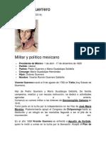 Vicente Guerrero Bibliografia