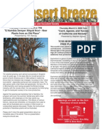 February 2009 Desert Breeze Newsletter, Tucson Cactus & Succulent Society
