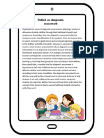 reflect on diagnostic assessment