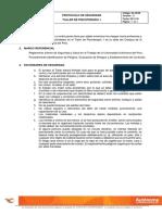 Protocolo de Seguridad Taller de Psicoterapia 1