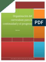 organizacion de curriculum