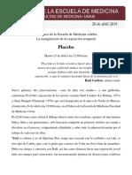 Boletín de Prensa. Placebo