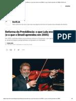 Reforma Da Previdência_ o Que Lula Ensinou Em 2003 (e o Que o Brasil Aprendeu Em 2005) _ VEJA.com