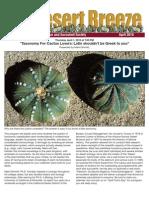 April 2010 Desert Breeze Newsletter, Tucson Cactus & Succulent Society