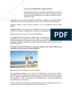 Diferencias Entre Actividad Física y Ejercicio Físico