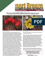 November 2010 Desert Breeze Newsletter, Tucson Cactus & Succulent Society