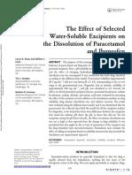 solubilidad paracetamol