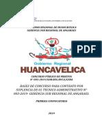 Concurso Publico 003-2019 Gerencia Sub Regional de Angaraes