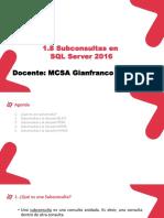 SUBCONSULTAS SQL SERVER