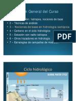 Ciclo Hidrologico y El Uso de Isotopos Como Trazadores