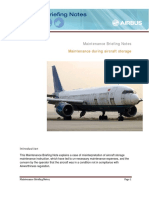 Maintenance During Aircraft Storage