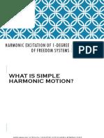 2. Harmonic Excitation of 1 DOF