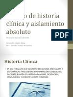 Manejo de Historia Clínica y Aislamiento Absoluto (1)