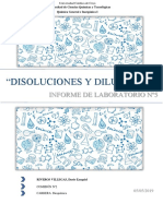 Disoluciones y Diluciones - Laboratorio Nº5