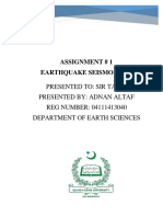 Adnan Altaf Earthqauke Seismology