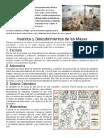 Cultivo y Descubrimientos de Los Mayas