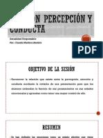 Percepción, Emoción y Conducta