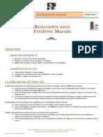 « Rencontre avec Frédéric Marais » - Fiche pédagogique cycles 2 et 3