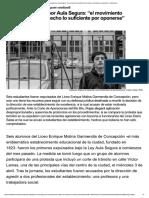 2019-05-07 Primer Expulsado Por Aula Segura, Sebastian Rojas