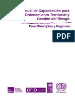 Perú Manual de Capacitación. Ordenamiento Territorial y Gestión de Riesgos 2009