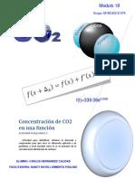 Concentracion de co2 en una funcion