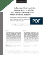 Texto 28. Ansiedad y Depresión en Pacientes Con Cáncer de Seno y Su Relación Con La Espiritualidad-religiosidad.