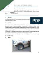 001 - Informe Averia en El Aro Delantero Izquierdo ADX913