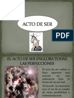 ACTO DE SER resumen