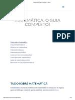 Matemática_ o Guia Completo! - Stoodi