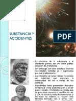 Substancia y Accidentes