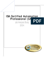 ISA Certified Automation Professional CAP