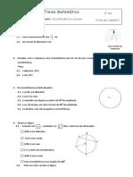 6 Ano - Mat - Círculo Circunferência Cordas e Retas