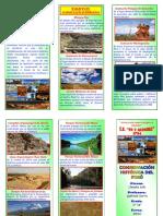 Triptico - Conservacion Historica Del Peru