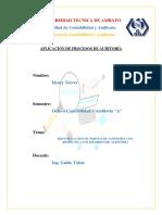 Henry Torres - Trabajo #2 - Identificacion de Normas de Auditoria