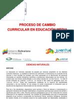 cambio curricular de educacion media venezolana